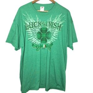 """Fruit of the Loom size 2XL """"Luck of the Irish Tee"""""""